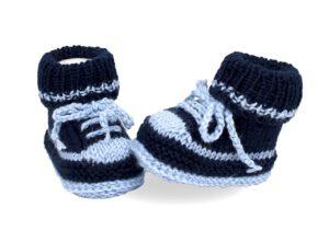 Babyturnschuhe dunkelblau-hellblau