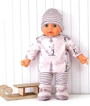 Puppenkleidung mit Winterfuchs